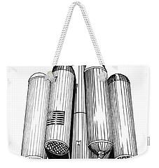 Rombus Heavey Lift Reusable Rocket Weekender Tote Bag by Jack Pumphrey