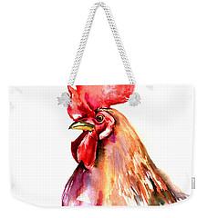 Rooster Portrait Weekender Tote Bag by Suren Nersisyan