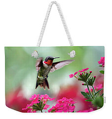 Ruby Garden Jewel Weekender Tote Bag by Christina Rollo