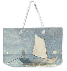 Sailing A Dory Weekender Tote Bag by Winslow Homer
