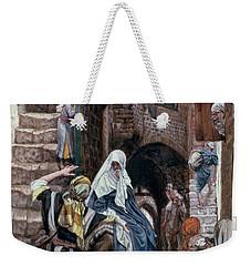 Saint Joseph Seeks Lodging In Bethlehem Weekender Tote Bag by Tissot