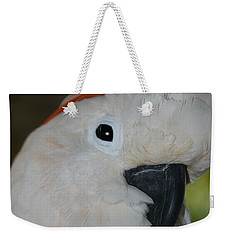 Salmon Crested Cockatoo Weekender Tote Bag by Sharon Mau