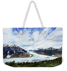 Salmon Glacier Weekender Tote Bag by Heidi Brand