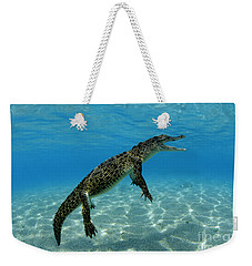 Saltwater Crocodile Weekender Tote Bag by Franco Banfi and Photo Researchers