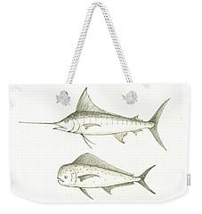 Saltwater Gamefishes Weekender Tote Bag by Juan Bosco