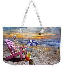 Sam's  Sandcastles Weekender Tote Bag by Betsy Knapp