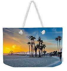 Santa Monica Sunset Weekender Tote Bag by Az Jackson