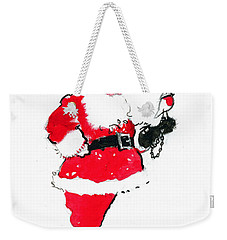 Santa Robin Falconry Weekender Tote Bag by George Adamson