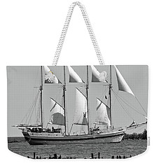 Schooner On Lake Michigan No. 1-3 Weekender Tote Bag by Sandy Taylor