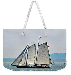 Schooner On New York Harbor No. 3 Weekender Tote Bag by Sandy Taylor
