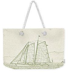 Schooner On New York Harbor No. 3-2 Weekender Tote Bag by Sandy Taylor
