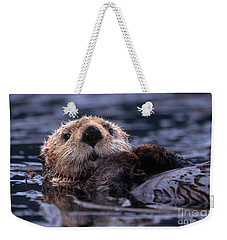 Sea Otter Weekender Tote Bag by Yva Momatiuk and John Eastcott and Photo Researchers