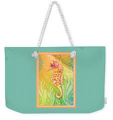 Seahorse Pink Weekender Tote Bag by Amy Kirkpatrick