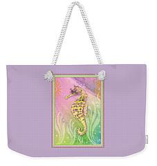 Seahorse Violet Weekender Tote Bag by Amy Kirkpatrick