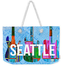 Seattle Music Scene Weekender Tote Bag by Edward Fielding