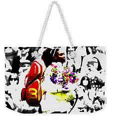 Serena Williams 2f Weekender Tote Bag by Brian Reaves