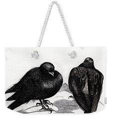 Serious Pigeon Situation Weekender Tote Bag by Nancy Moniz