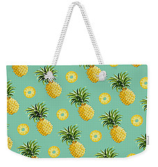 Set Of Pineapples Weekender Tote Bag by Vitor Costa