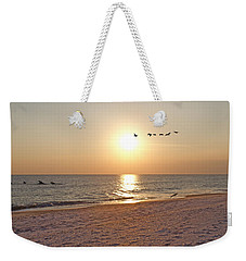 Shackleford Banks Sunset Weekender Tote Bag by Betsy Knapp