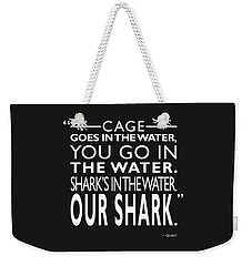 Sharks In The Water Weekender Tote Bag by Mark Rogan