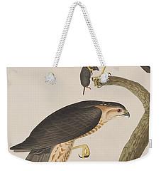 Sharp-shinned Hawk Weekender Tote Bag by John James Audubon