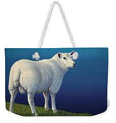 Sheep At The Edge Weekender Tote Bag by James W Johnson