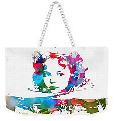 Shirley Temple Watercolor Paint Splatter Weekender Tote Bag by Dan Sproul