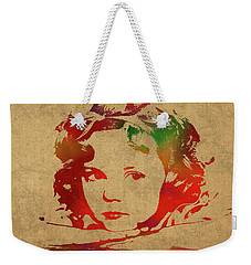 Shirley Temple Watercolor Portrait Weekender Tote Bag by Design Turnpike