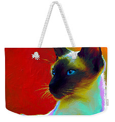 Siamese Cat 10 Painting Weekender Tote Bag by Svetlana Novikova