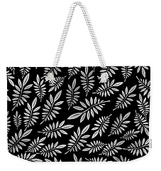 Silver Leaf Pattern 2 Weekender Tote Bag by Stanley Wong