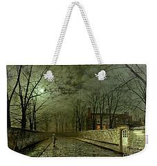 Silver Moonlight Weekender Tote Bag by John Atkinson Grimshaw