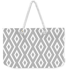 Silver Pattern Weekender Tote Bag by Christina Rollo