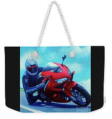 Sky Pilot - Honda Cbr600 Weekender Tote Bag by Brian  Commerford