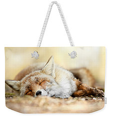 Sleeping Beauty -red Fox In Rest Weekender Tote Bag by Roeselien Raimond