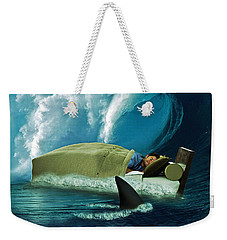 Sleeping With Sharks Weekender Tote Bag by Marian Voicu