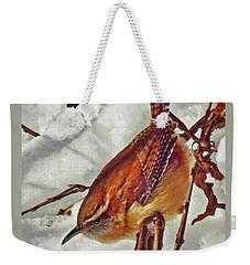 Slim Pickens, Carolina Wren Weekender Tote Bag by Ken Everett