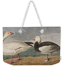Snow Goose Weekender Tote Bag by John James Audubon