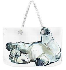 Snow Rub Weekender Tote Bag by Mark Adlington