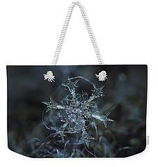 Snowflake Photo - Starlight Weekender Tote Bag by Alexey Kljatov