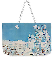 Snowman Castle Weekender Tote Bag by Christian Kaempf