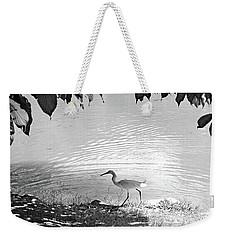 Snowy Egret Weekender Tote Bag by Sandy Taylor