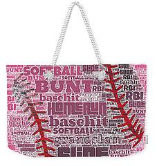 Softball  Weekender Tote Bag by Brandi Fitzgerald