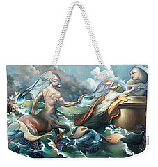 Something Fowl Afloat 2b Weekender Tote Bag by Patrick Anthony Pierson