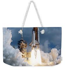 Space Shuttle Launching Weekender Tote Bag by Stocktrek Images