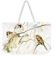 Sparrows Weekender Tote Bag by Suren Nersisyan