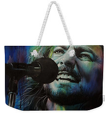 Eddie Vedder - ' Spectrum Of Vedder ' Weekender Tote Bag by Christian Chapman Art