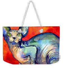 Sphynx Cat 6 Painting Weekender Tote Bag by Svetlana Novikova