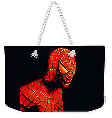 Spiderman Weekender Tote Bag by Paul Meijering