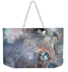 Spirit Of The Hawk Weekender Tote Bag by Carol Cavalaris
