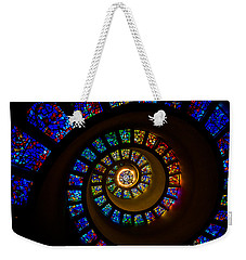 Spiritual Spiral Weekender Tote Bag by Inge Johnsson